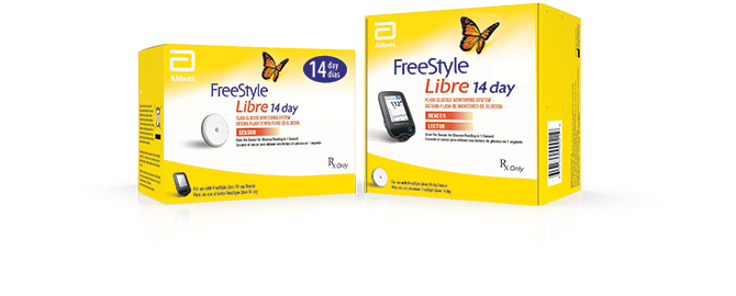 FreeStyle Libre sensor box and FreeStyle Libre reader box