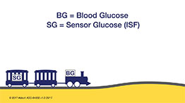 Blood glucose vs. Sensor glucose